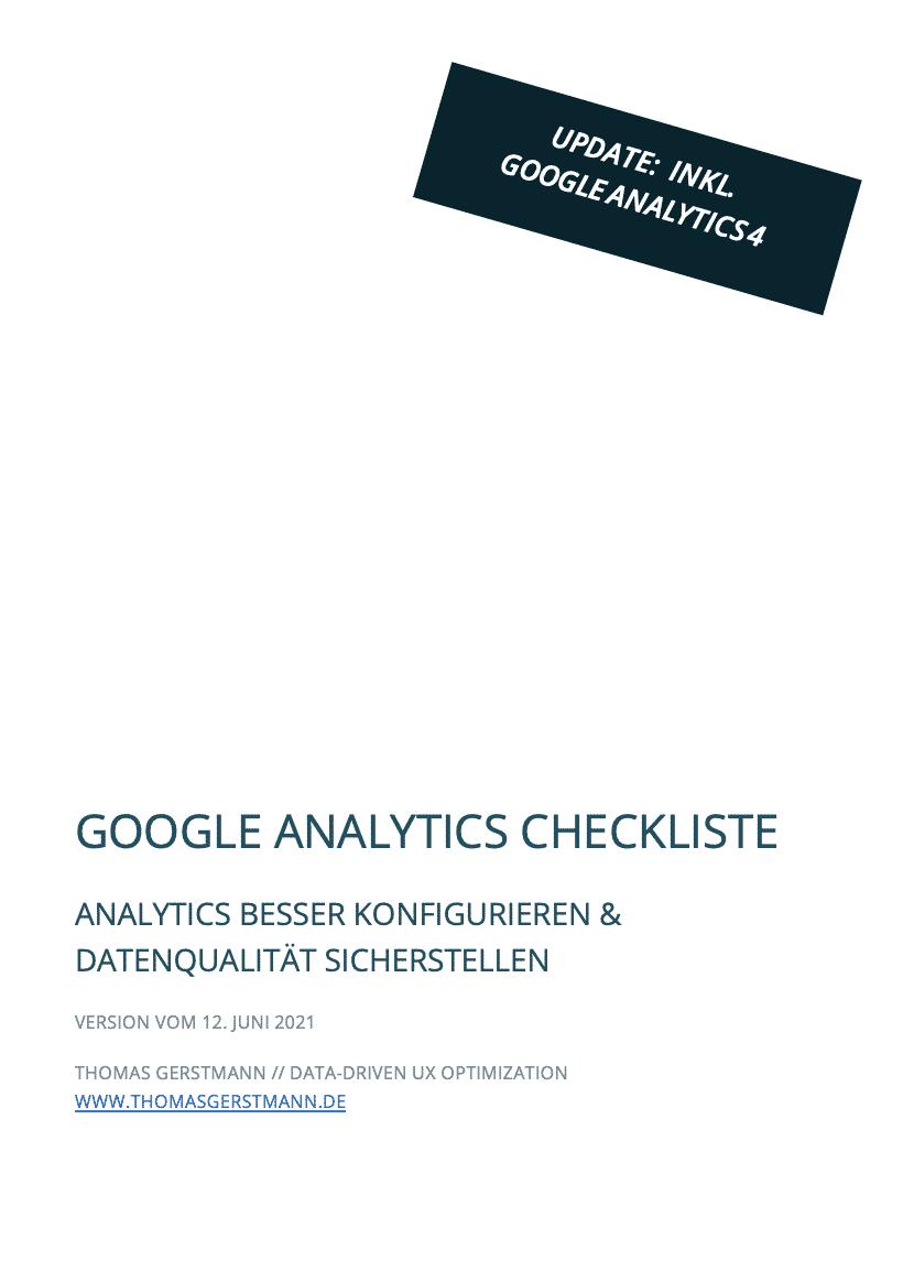 Google Analytics Checkliste – NEU inkl. Google Analytics 4